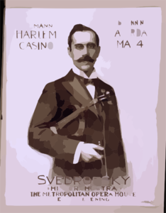 At The Heumann Harlem Casino Beginning Saturday, May 4th, Svedrofsky And His Orchestra From The Metropolitan Opera House, Ever[y] Evening Clip Art