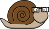 Snail With Glasses Clip Art