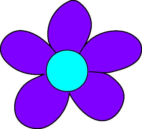 blue flower clip art at clker com vector clip art online royalty rh clker com purple watercolor flowers clipart purple flowers clipart free