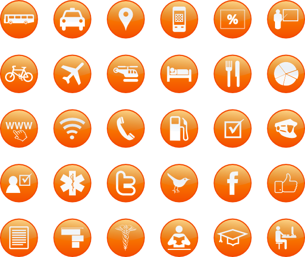 tourism  u0026 services icons clip art at clker com