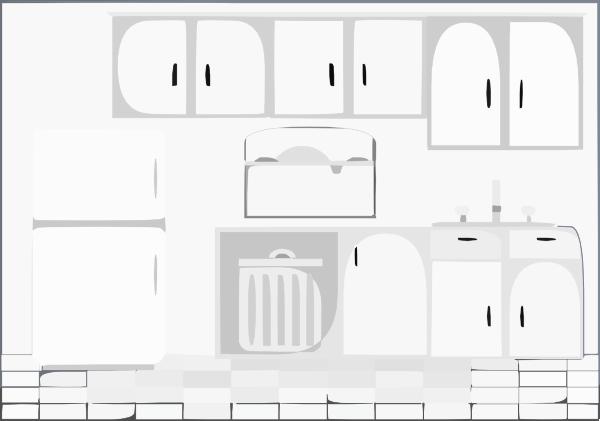 Kitchen Bw Clip Art At Clker.com