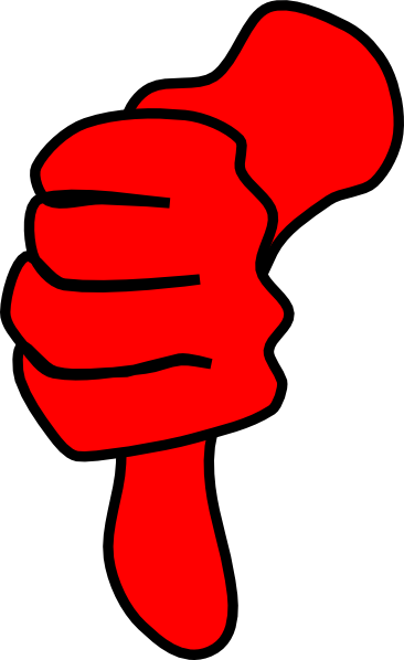 thumbs down red clip art at clker com vector clip art online rh clker com thumb down clipart images thumbs down clipart black and white