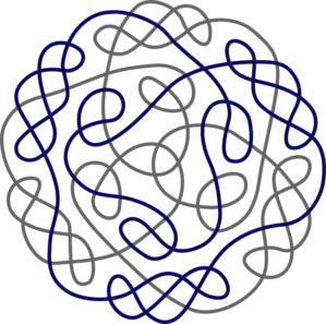 Navy Gray Celtic Knot Clip Art at Clker.com - vector clip art ...