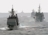 Uss Wasp (lhd 1) Expeditionary Strike Group Ships Underway. Clip Art