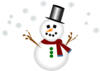 Snowman With Carrot Nose And Hat Clip Art