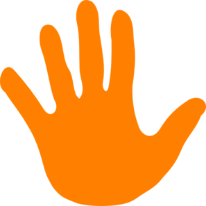 Hand Orange Left Clip Art