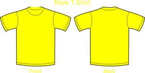 Plain T-shirts Yellow Clip Art