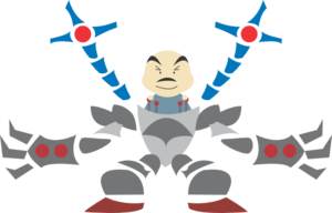 Man In Robot Outfit Clip Art