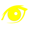 Yellow Eye Icon Clip Art