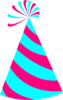 Pink And Blue Party Hat Clip Art
