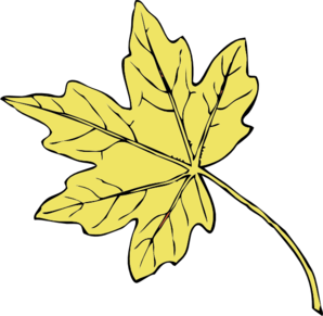 Gold Maple Leaf Clip Art