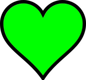 Green Heart Clip Art