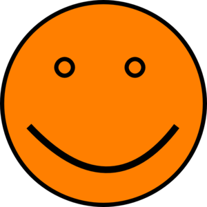 Orange Face Clip Art