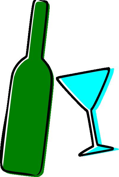 wine bottle and martini glass clip art at clker com vector clip rh clker com Alcohol Clip Art Whiskey Bottle Clip Art