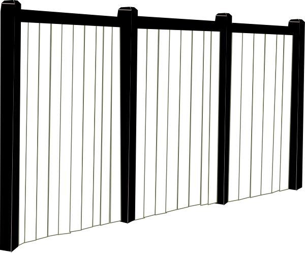 Black and white fence clip art at clker vector