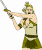 Female Warrior Clip Art