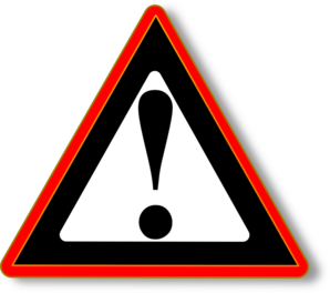 Red Black Warning Clip Art