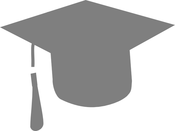 Grey Graduation Hat Clip Art At Clker Com Vector Clip