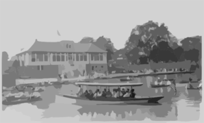 Bronx Lake From New York Zoological Park, 183 D. St. And Southern Blvd., New York City: Launch Albatross On Bronx Lake Clip Art