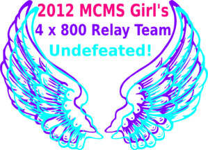 Track Relay Angel Wings Ii Clip Art
