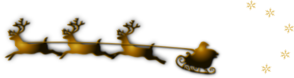 Santa In Sled With Reindeer Clip Art