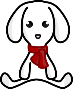 Rabbit With Scarf Clip Art