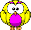 Yellow And Purple Hoot  Clip Art
