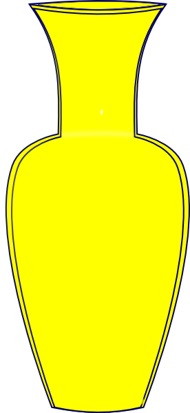 Yellow Vase Clip Art at Clker.com - vector clip art online, royalty ...: www.clker.com/clipart-yellow-vase.html