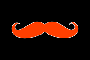 Burnt Orange Mustache Clip Art