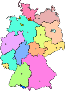 Germany Map New Color Clip Art