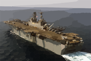 The Amphibious Assault Ship Uss Iwo Jima (lhd 7) Steams Through The Arabian Gulf Clip Art