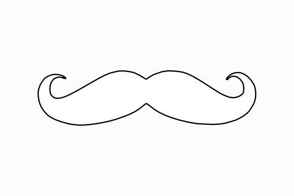 Mustache clip art at vector clip art online for Mustache print out template