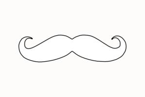 Mustache Clip Art At Clker Com Vector Clip Art Online Moustache Coloring Pages