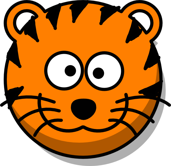Tiger Head No Tail clip art