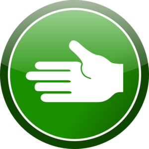 Green Circle Hand Sign Clip Art