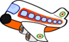 Orange Jumbo Jet Clip Art