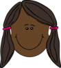 Girl With Pigtails Clip Art