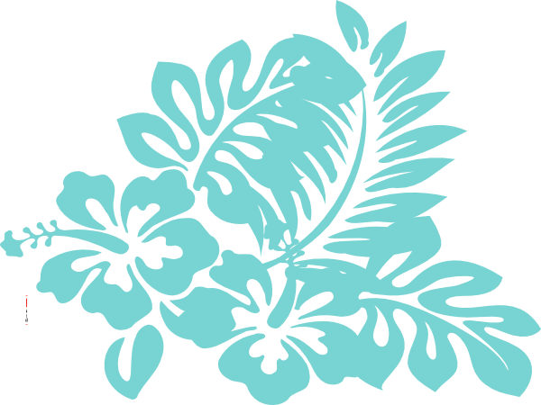 Blue Tropical Flower Clip Art at Clker.com - vector clip ...