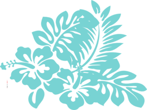 Blue Tropical Flower Clip Art