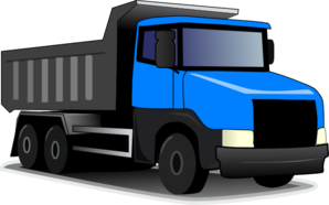 Blue Truck Revised Clip Art
