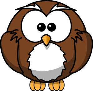 Brown Cartoon Owl Clip Art