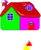 Colorful House Clip Art