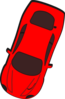Red Car - Top View - 250 Clip Art
