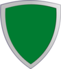 Plian Green Security Shield Clip Art