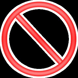 Forbidden Sign Clip Art