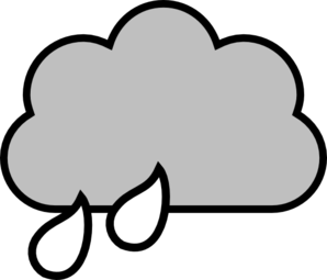Black And White Rain Cloud Clip Art