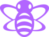 Purple Bee Clip Art