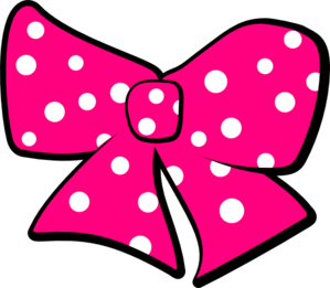 Bow With Polka Dots Clip Art