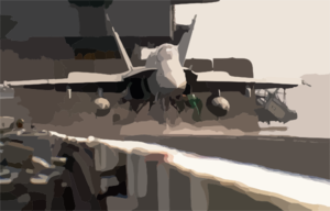 F/a-18 Launch From Cvn 65 Clip Art