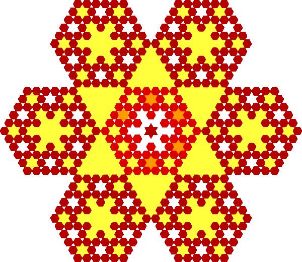 honeycomb flakes pattern clip art at clkercom vector